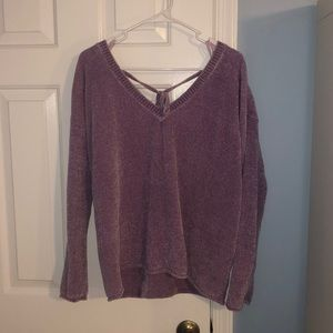 LIGHT PURPLE PLUSH SWEATER